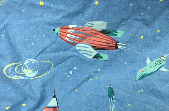 Space quilt fabric detail