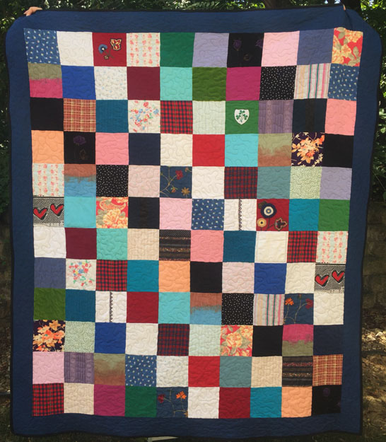 Couch throw sized memory quilt